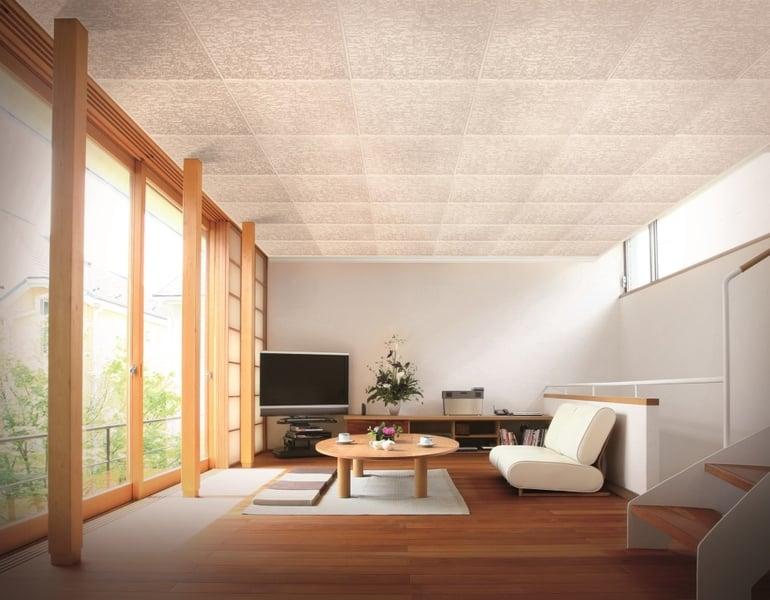 Guida pratica sul montaggio dei pannelli per soffitti for Carta da parati per soffitto