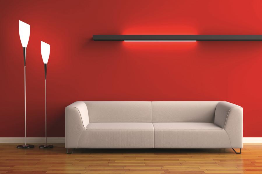 Best good parete rossa con glitter colori vernici per - Tecnica di pittura per pareti interne ...